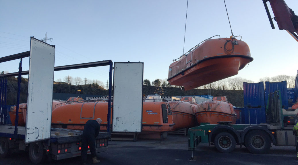 Safety boats sold and transported via surplushub.com